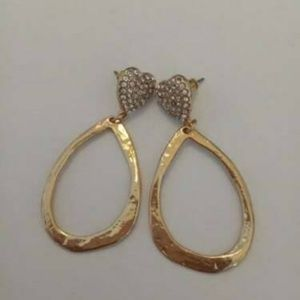 Kenneth Jay Lane Crystal Gold Plated Dangling #8